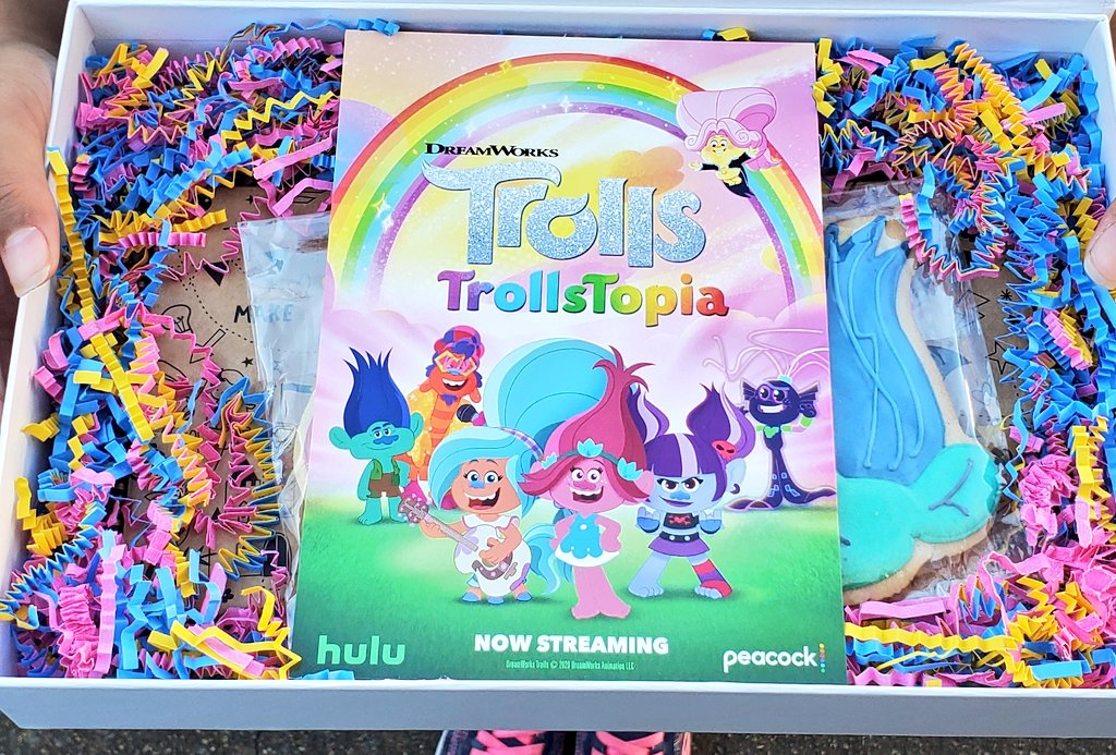TrollsTopia Swag. Inspired by the beloved DreamWorks Animation films, TrollsTopia is the next chapter in the hair-raising adventures of the trolls. Watch the first 13-episode season streaming exclusively on Peacock and Hulu today!