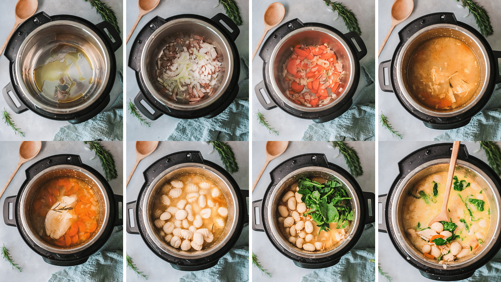 Instant Pot Chicken Gnocchi Cooking Instructions. Bring the restaurant home with my Copycat Olive Garden Instant Pot Chicken Gnocchi Soup. Better than the restaurant, this deliciously easy to make creamy soup goes perfectly with fresh-baked breadsticks.