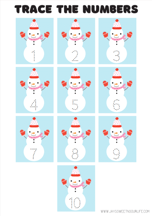 Snowman Activtites Pages Numbers. Grab these Free Snowman Printables, filled with fun snowman themed activities, coloring sheets, and more! These Preschool Snowman Activities are a huge hit at any holiday event.