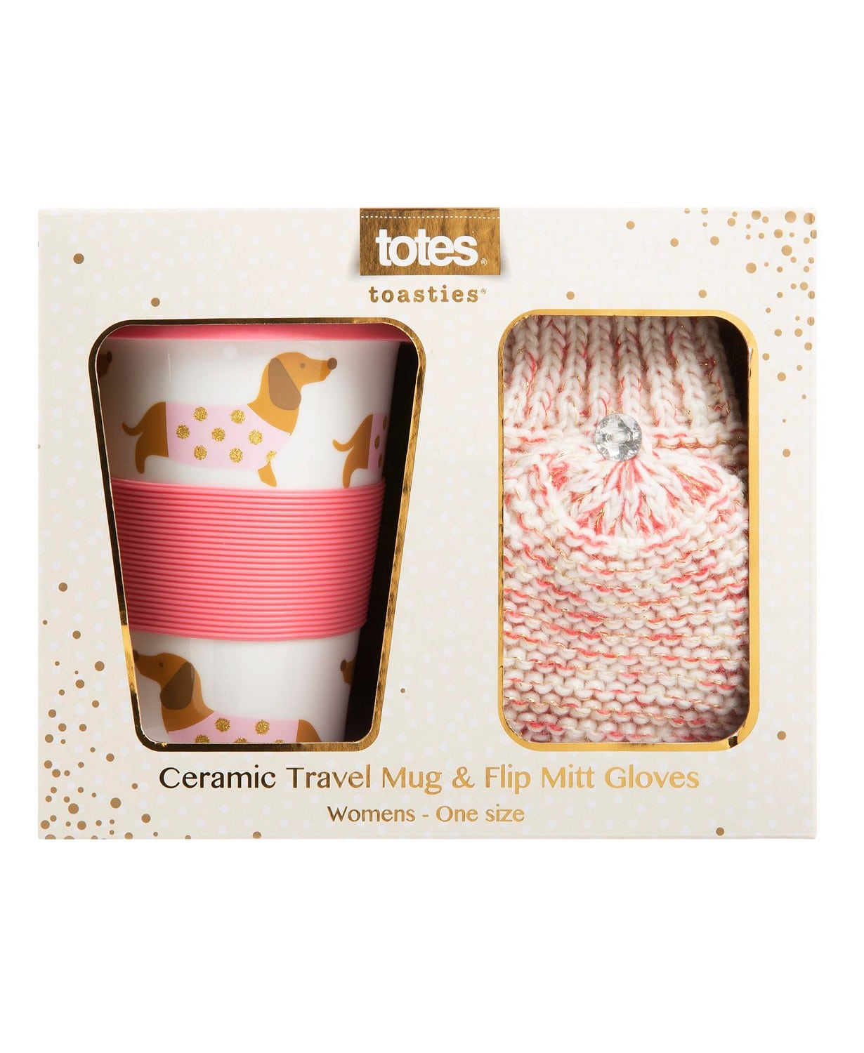 Bring the coffee or cocoa lover in your life some extra cheer this holiday season with the Travel Mug and Knit Flip Mitten Set! Our festive travel mug is both easy to clean and easy on the environment.