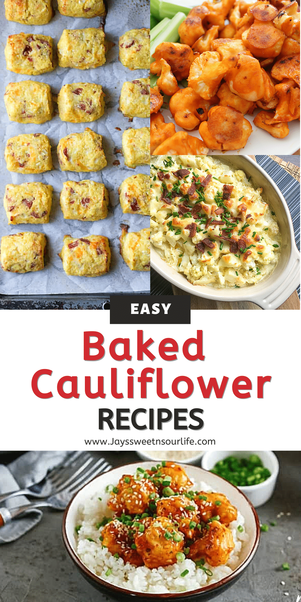 These easy baked cauliflower recipes are perfect for family weeknight dinners and side dishes. Each recipe is packed with flavor and none of the guilt, your family is guaranteed to love these Keto-friendly and Vegan cauliflower recipes.