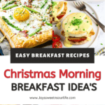 Start your holiday off with these easy Christmas morning breakfast ideas. Packed with tasty breakfast recipe ideas, there is everything from sweet and savory in this Christmas breakfast recipe roundup.