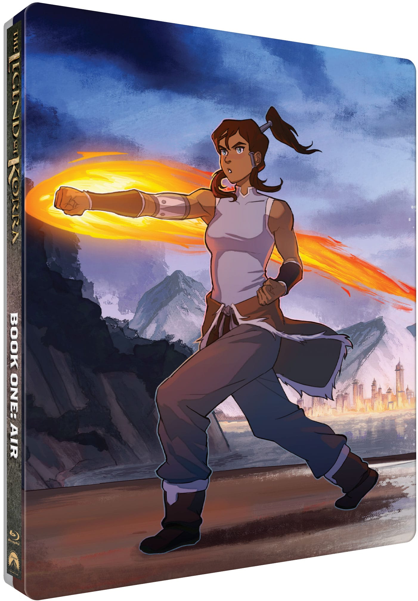 The Legend of Kora Limited Edition Steelbook Collection Book 1 Cover. Nickelodeon's critically acclaimed, Emmy® Award-winning The Legend of Korra animated series receives the SteelBook® treatment. The Legend of Korra - The Complete Series Limited Edition Steelbook Collection, a 4-book collection features stunning new artwork by artist Caleb Thomas. Each book featuring a different element (Fire, Water, Earth, and Air).