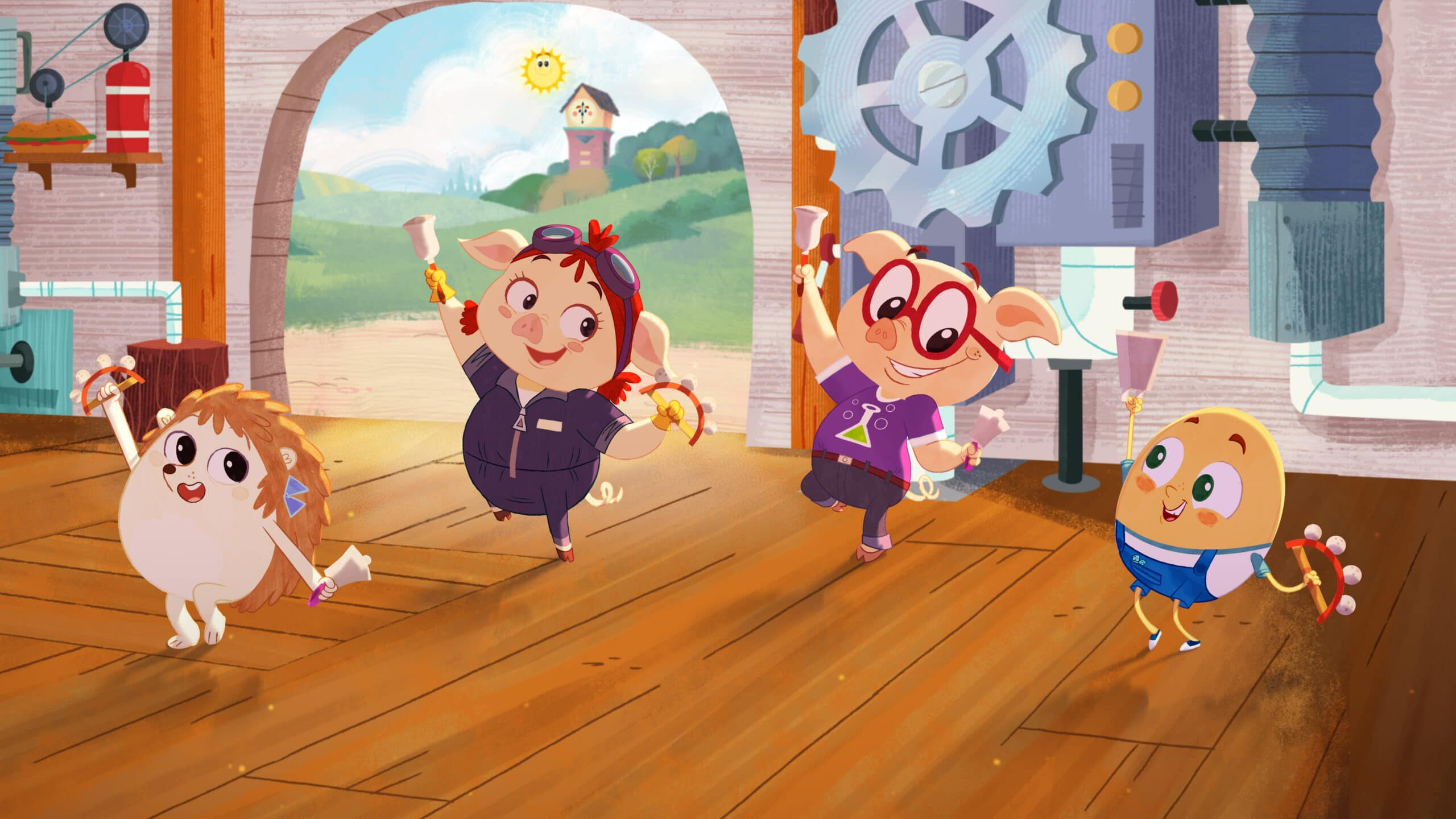 Rhyme Time Town Mary Mary, Jill, Jack, Humpty. Discover more about your favorite characters from the colorful world of Rhyme Time Town. Join Daisy and Cole in 10 all-new singing adventures through the Rhyme Time Town Singalong, coming to Netflix on December 22nd!