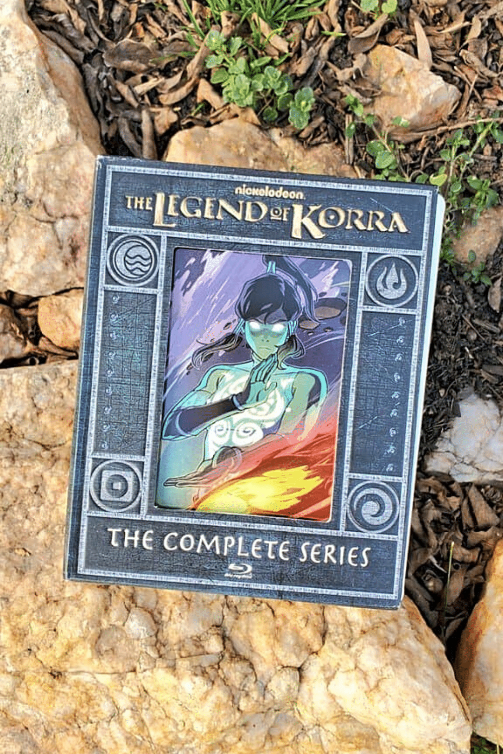 The Legend of Korra Limited Edition Steelbook Collection. It's a 4-book collection that features stunning new artwork by artist Caleb Thomas. Each book featuring a different element (Fire, Water, Earth, and Air).