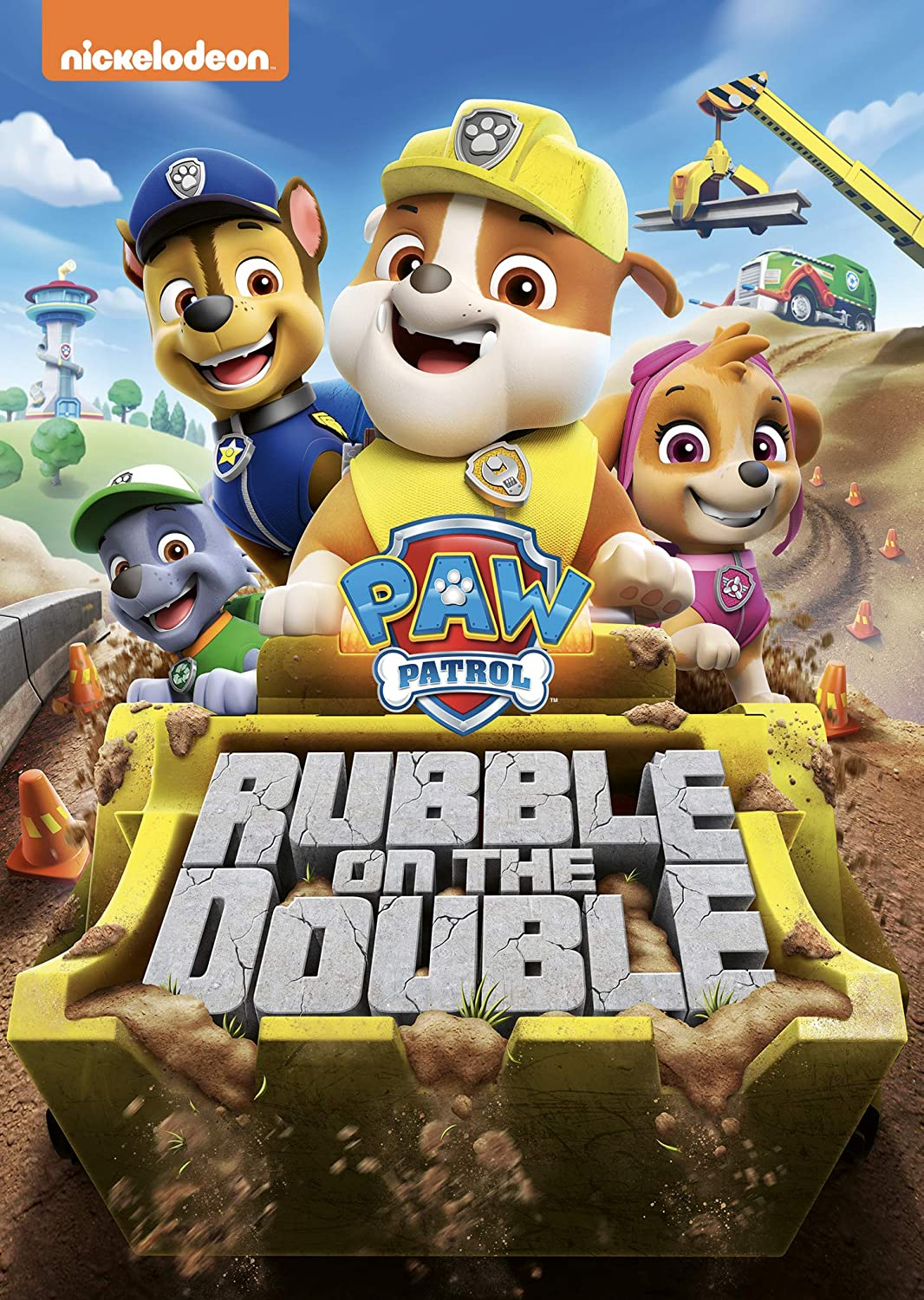 "Get ready to raise the ""woof"" with Rubble and the rest of the pups in the all-new DVD PAW Patrol: Rubble on the Double. Featuring nine construction-themed episodes from Nickelodeon's hit preschool series PAW Patrol (produced by Spin Master Entertainment)."