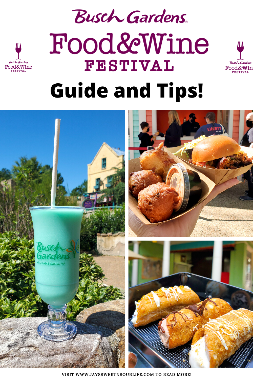 This spring, NEW flavors are in bloom at Busch Gardens with the return of the park's fan-favorite Food & Wine Festival going on now till May 23rd. Read my full Busch Gardens Williamsburg Food and Wine Festival 2021 Guide filled with helpful info and my top foodie picks for this year!