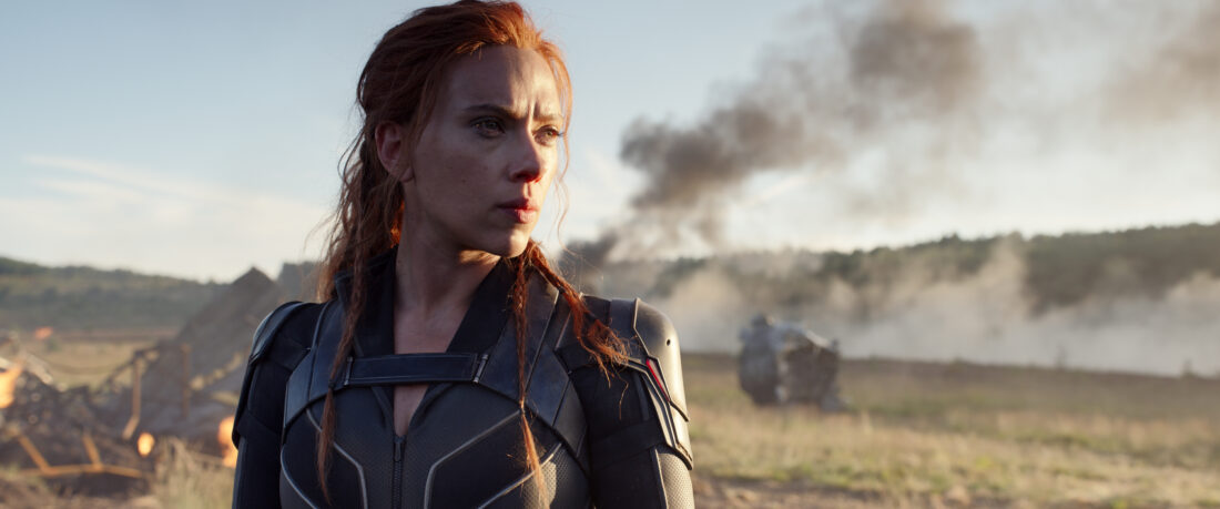 """Natasha Romanoff is back in this intense action-packed spy thriller Black Widow. Where she struggles to face her past and deal with unfinished business. See Marvel Studios' """"Black Widow"""" in theaters or on Disney+ with Premier Access on July 9."""