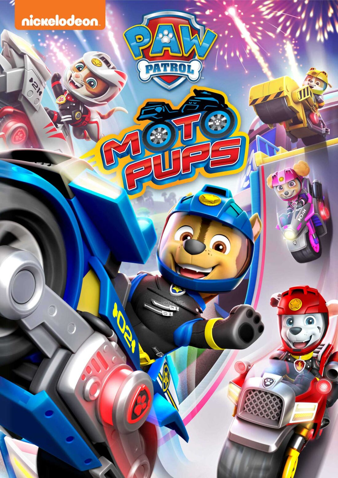 Get ready for a wild ride as the PAW Patrol welcomes a new feline friend, in their newest film PAW Patrol: Moto Pups! Available on June 1, 2021, this DVD features all-new high-speed bikes and high-tech gear plus a bonus episode.