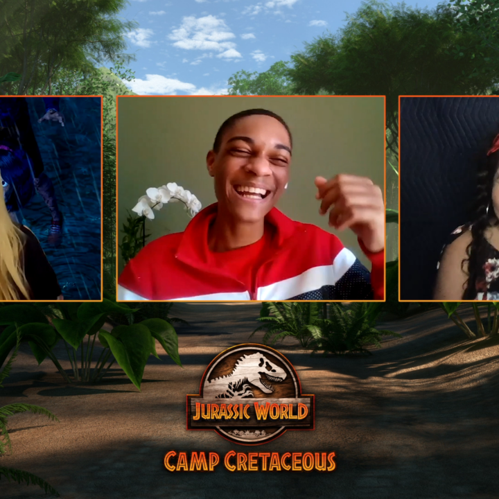 Check out an exclusive interview with the cast of DreamWorks Jurassic World: Camp Cretaceous for Season 3. Find out what Raini Rodriquez, who voices Sammy, and Paul-Mikél Williams who voices Darius thinks about this epic new series.