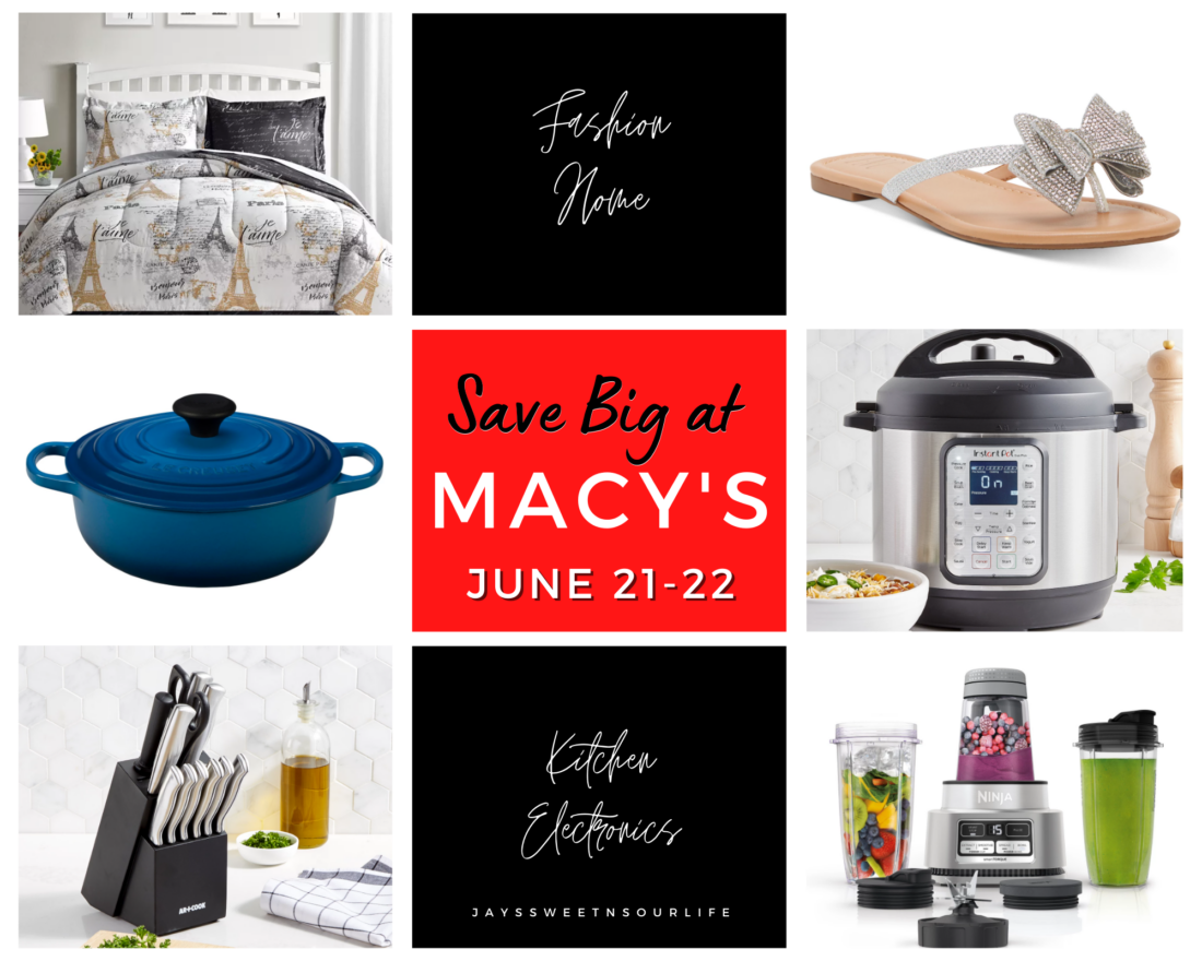 Save Big at Macy's from June 21-22 with limited-time special savings on everything from kitchenware to luggage, fragrances, and apparel. See what my hot picks are for the sales event, and also enter to win in Savings.com's #SaveBigAtMacys giveaway. Win one of four $250 e-gift card prizes from Macy's!
