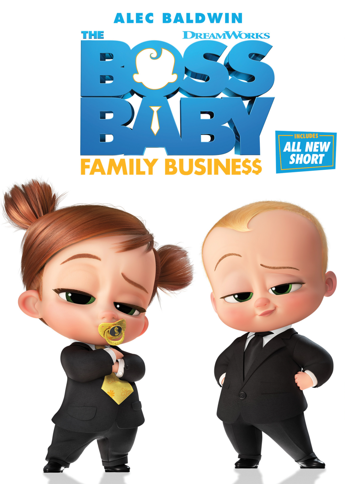The Boss Baby is back and reporting for business in DreamWorks Animation'sThe Boss Baby: Family Business. Available to own DVD, 4k Ultra, and Blu-Ray today! Featuring an all-new short from Universal Pictures Home Entertainment.